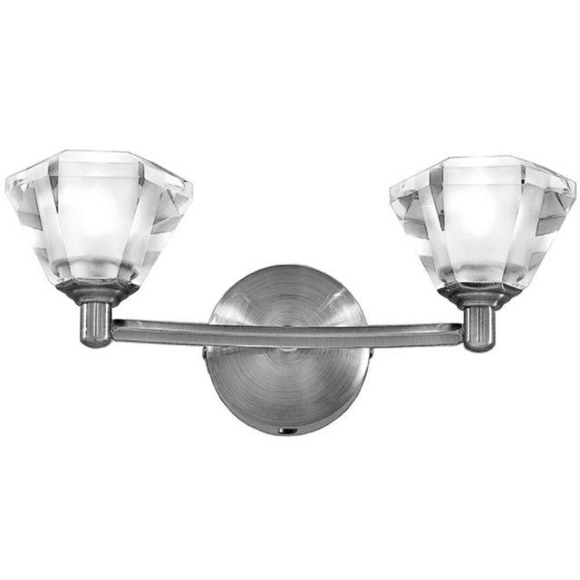 F2294/2 Twist 2 Light Satin Nickel Wall Light