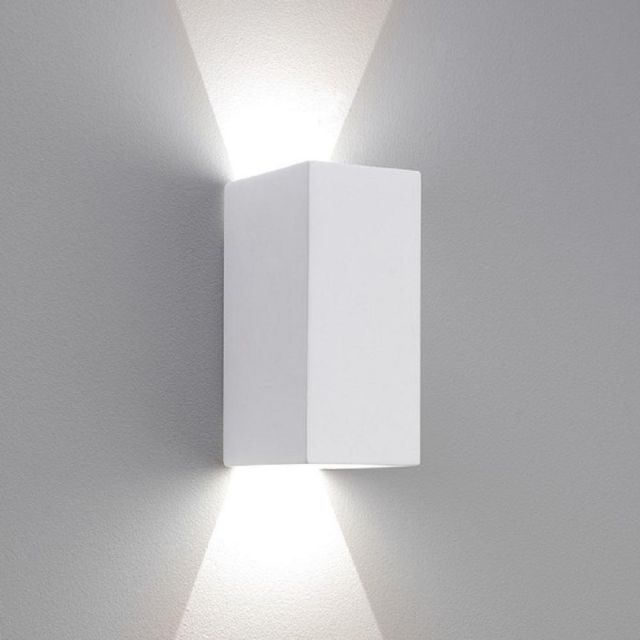 Astro 1187014 Parma Two Light LED Wall Light In White - H: 160mm