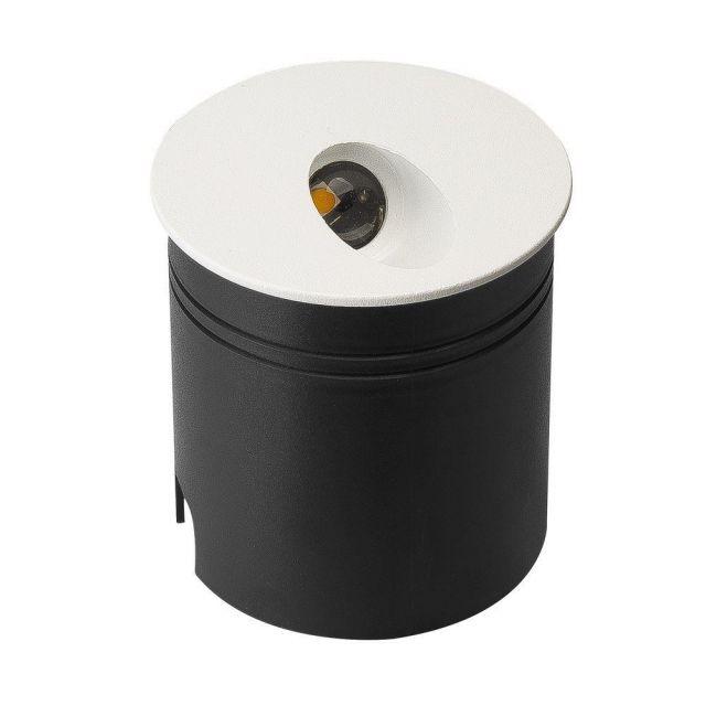 Mantra M7023 Aspen 1 Light Outdoor 3 Watt LED Round Angle Wall Lamp In Sand White