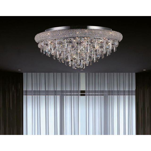 Diyas IL31447 Alexandra Crystal Ceiling Light in Polished Chrome