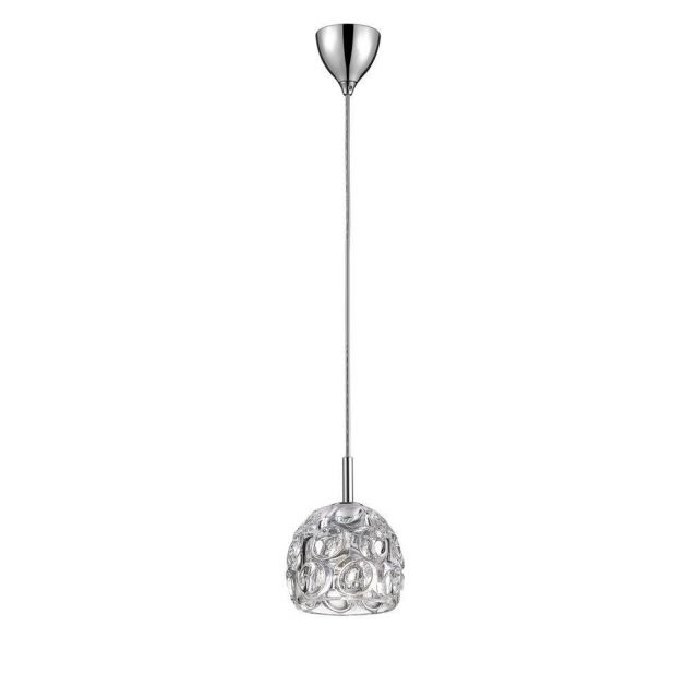 Impex CFH1704/01/CH Clea One Light Ceiling Pendant Light In Chrome
