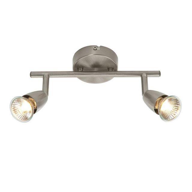 Saxby G2521313 Amalfi Satin Nickel Two Bar Spotlight