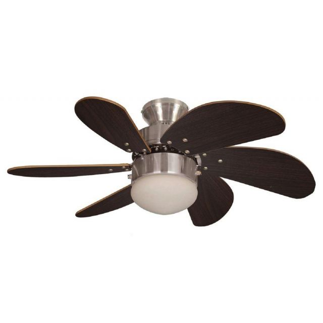 Fantasia 114390 Atlanta Ceiling Fan In Brushed Nickel With Light