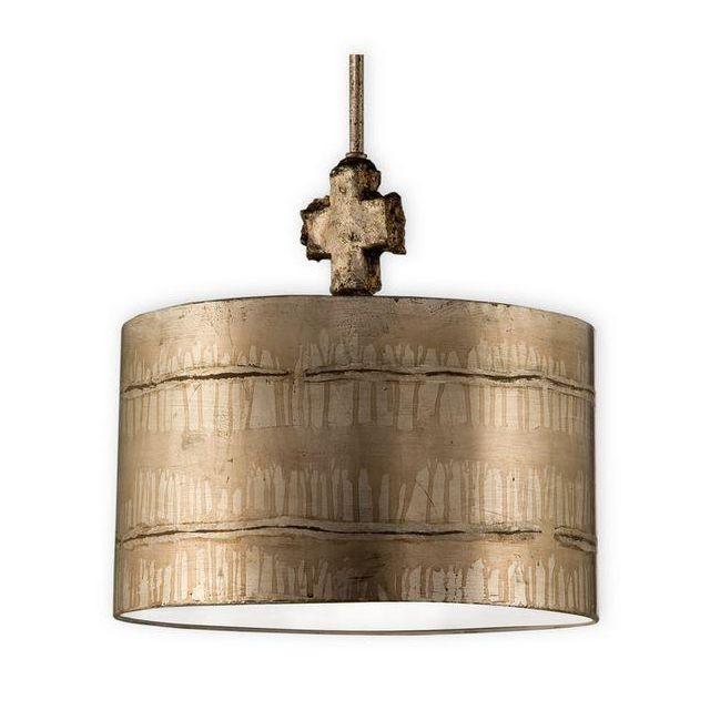 FB/FRAGMENT-S/PL 1 Light Aged Silver Large Ceiling Pendant
