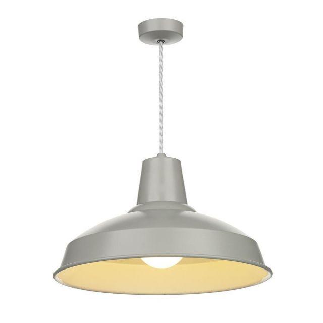 David Hunt Lighting REC0139 Reclamation 1 Light Powder Grey Ceiling Pendant