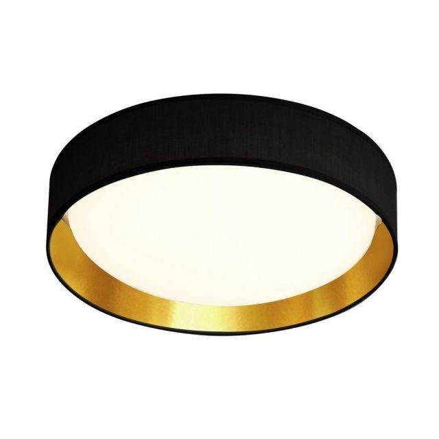 Searchlight 9371-37BGO Gianna Flush Ceiling Light In Black And Gold - Dia: 370mm