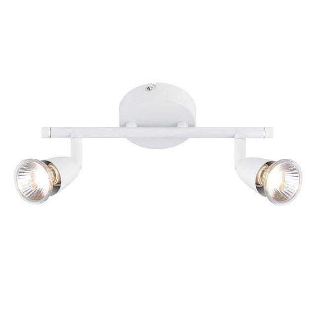 Saxby 43282 Amalfi Gloss White Paint Two Bar Spotlight