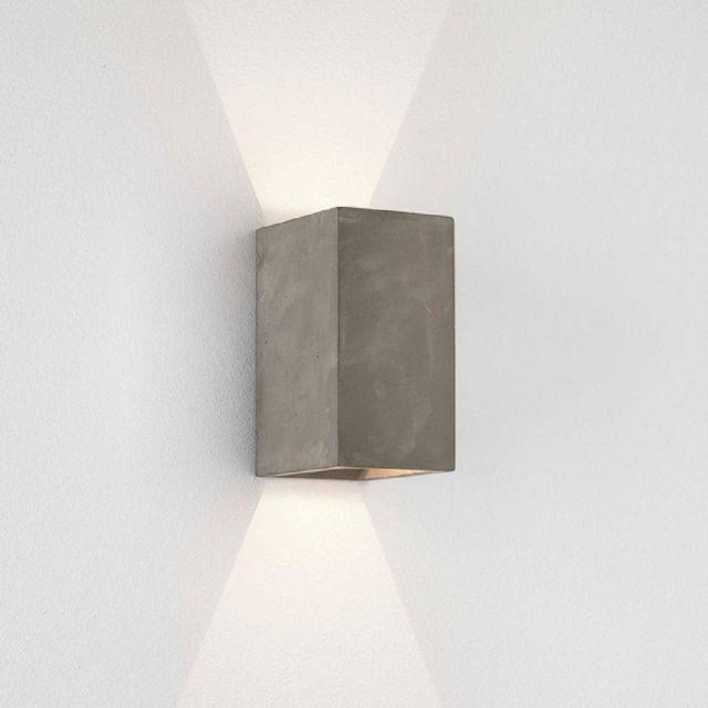 Astro 1298020 Oslo Exterior LED Wall Light In Matt Concrete