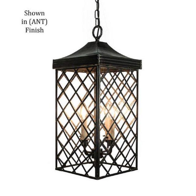 533AANT Ivy Large Hanging Lantern In Old Antique - H:700mm