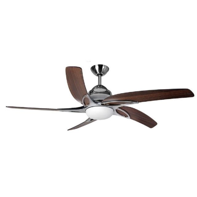 Fantasia 116103 Viper Plus 54 Inch Stainless Steel Fan With Dark Oak Blades And LED Light