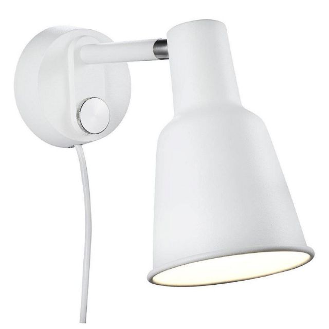 Nordlux 84471001 Patton 1 Light Dimmable Wall Light In White