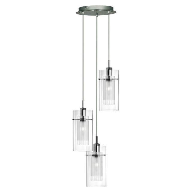 Searchlight 2300-3 Duo I, 3 Light Disc Ceiling Pendant