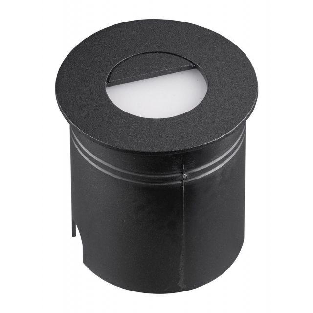 Mantra M7028 Aspen 1 Light Outdoor 3 Watt LED Round Eyelid Wall Lamp In Sand Black