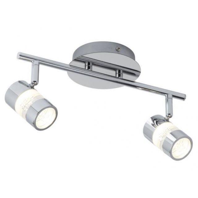 Searchlight 4412CC Bubbles 2 Light LED Bathroom Spotlight In Chrome