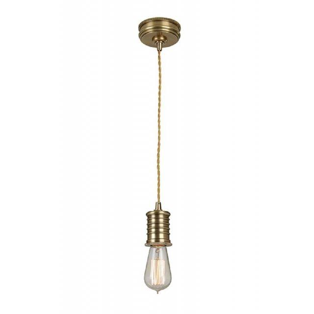 DOUILLE/P AB Douille Lamp Holder Celing Pendant Light In Aged Brass (Fitting Only)