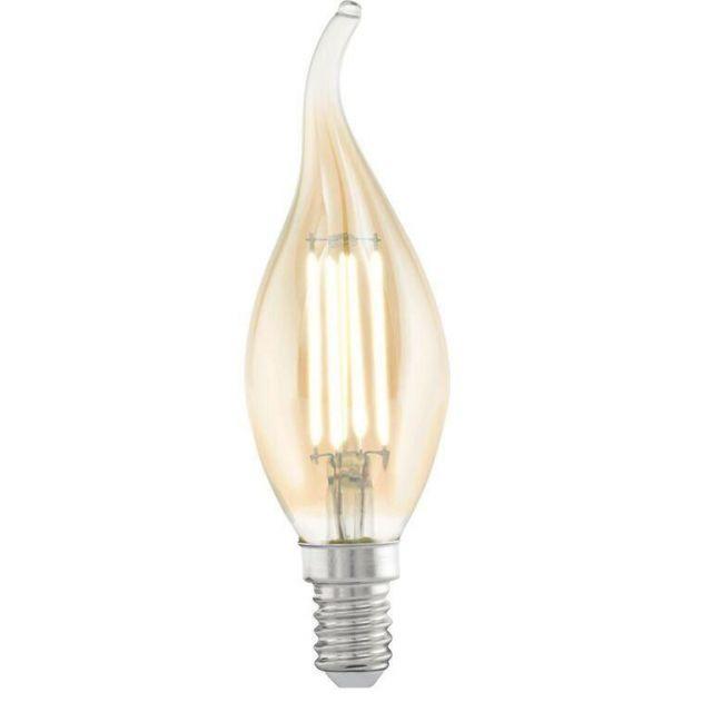 LED Vintage Filament Amber Bent Tip Candle Lamp 4 watt
