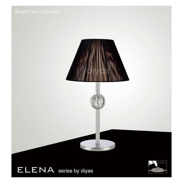 IL30510 Elena Chrome And Crystal Cloth Table Lamp Base Only
