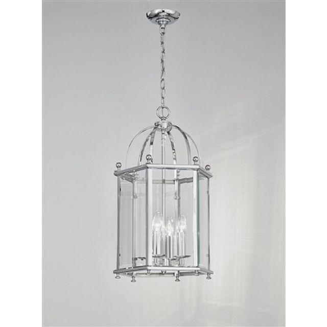L7008/4 4 Light  Chrome Hexangonal Lantern