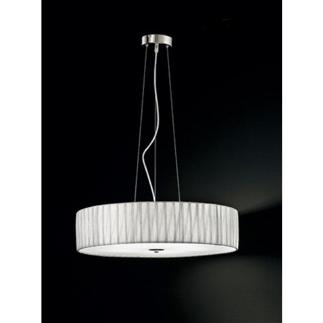 F2284/5 Large Satin Nickel and Silver Ceiling Pendant