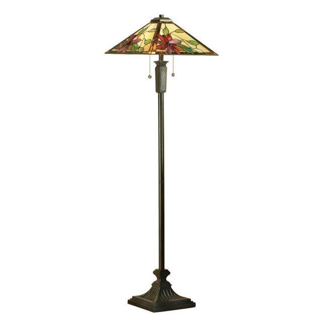 Interiors 1900 64227 Lelani Tiffany 2 Light Floor Lamp