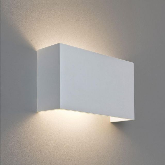Astro 1315001 Pella 325 Minimalist Wall Light in Plaster Finish