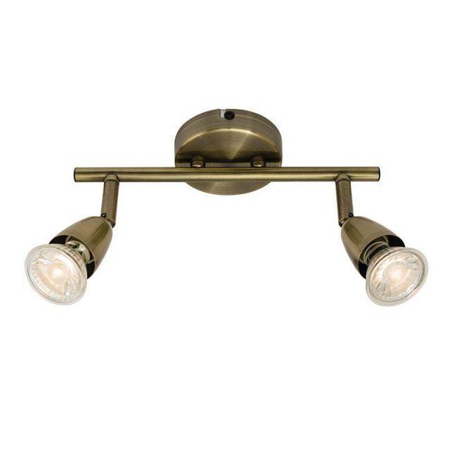 Saxby 60999 Amalfi Antique Brass Two Bar Spotlight