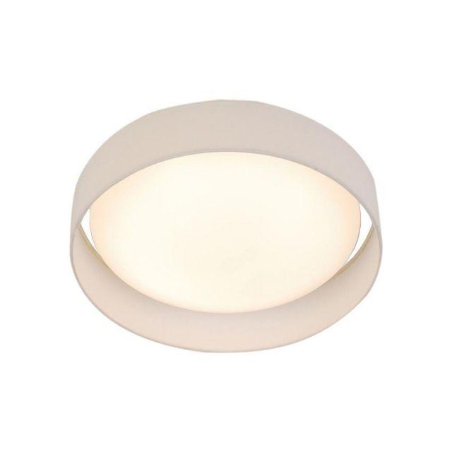 Searchlight 9371-50WH Gianna Flush Ceiling Light In White - Dia: 500mm