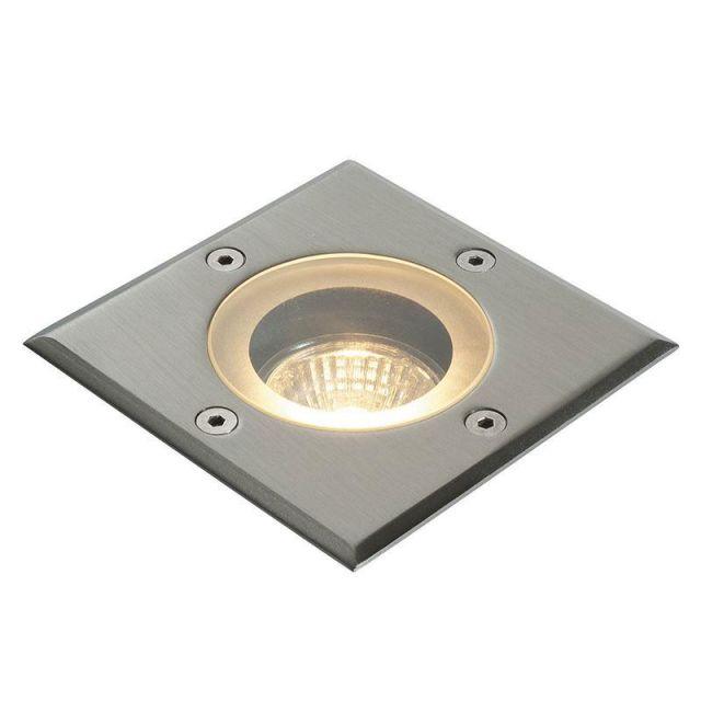 Saxby 52211 Pillar Square Outdoor Floor Light Stainless Steel IP44