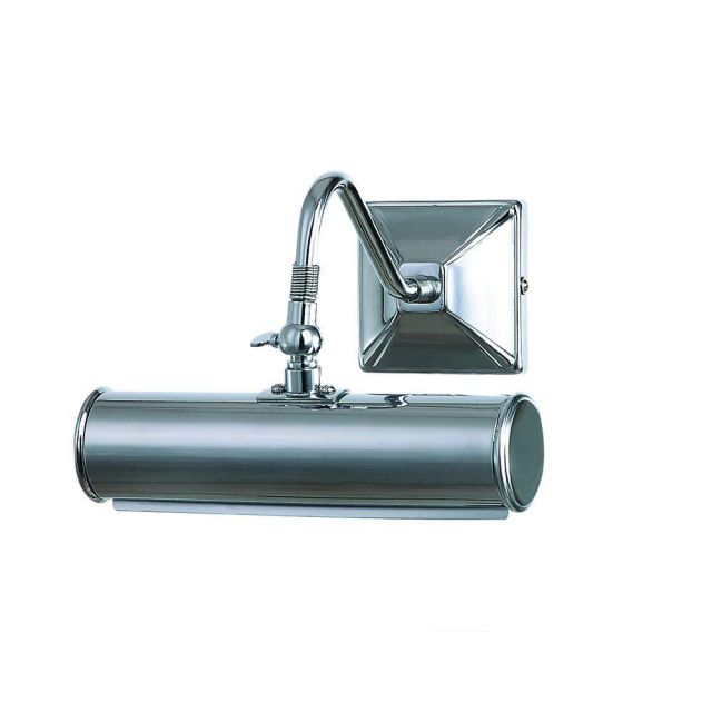 PL1/10 PC Small Traditional Picture Light in Polished Chrome