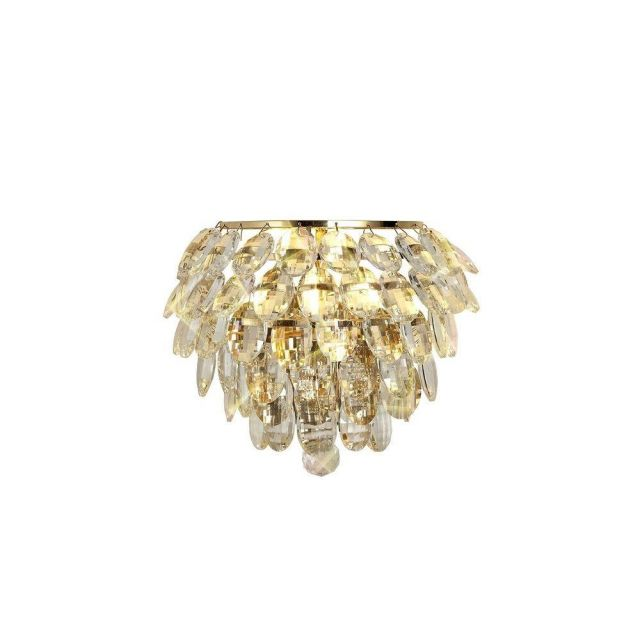 Diyas IL32807 Coniston 1 Light Wall Light In French Gold