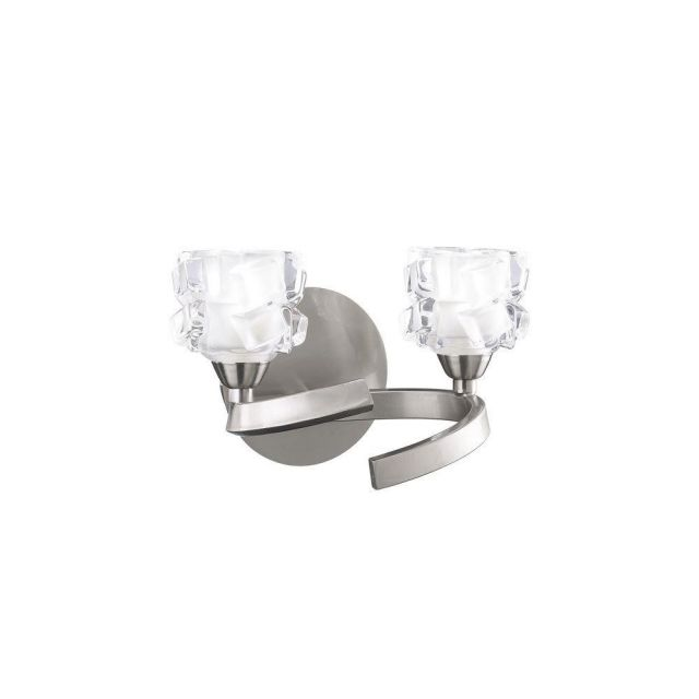 Mantra M1854/S Ice 2 Light Switched Wall Light In Satin Nickel
