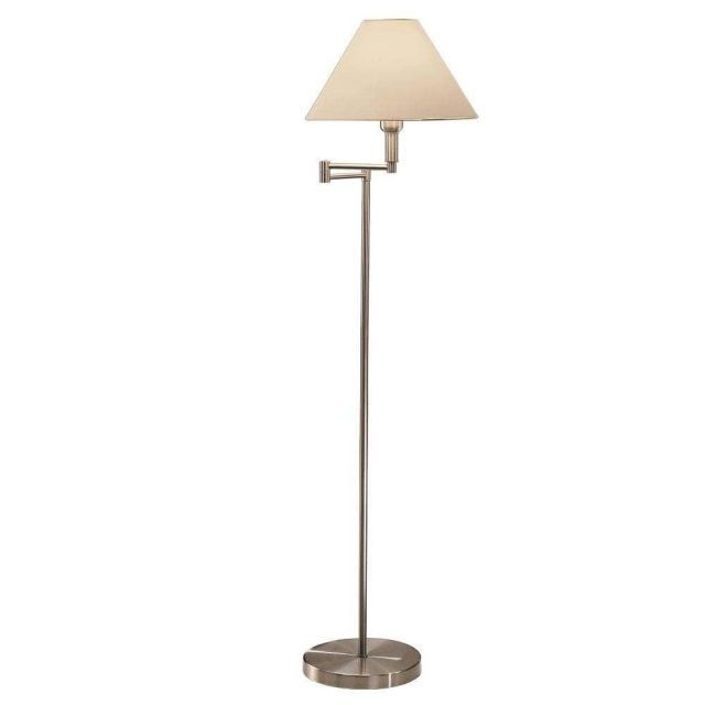 SL254/1191 1 Light Swing-Arm Floor Lamp Finished in Satin Nickel