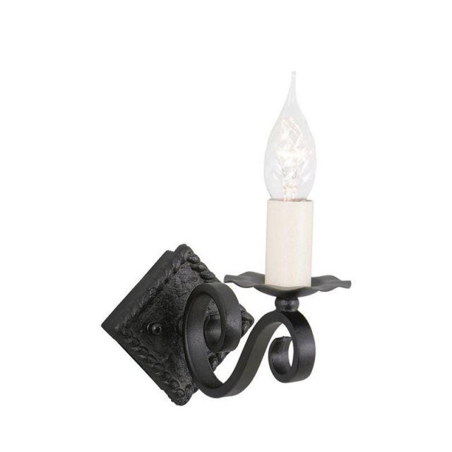 Elstead RY1A BLACK Rectory single iron wall light