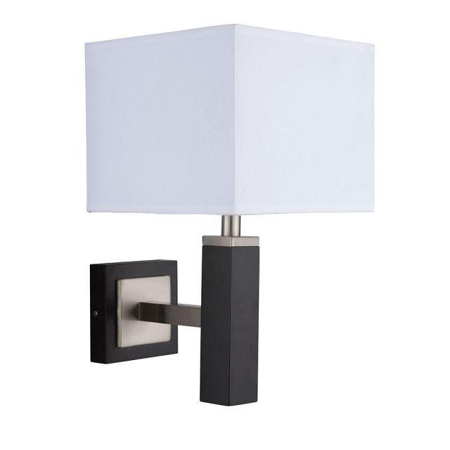 Searchlight 8878BR Waverley Brown Wood 1 Light Modern Wall Lamp