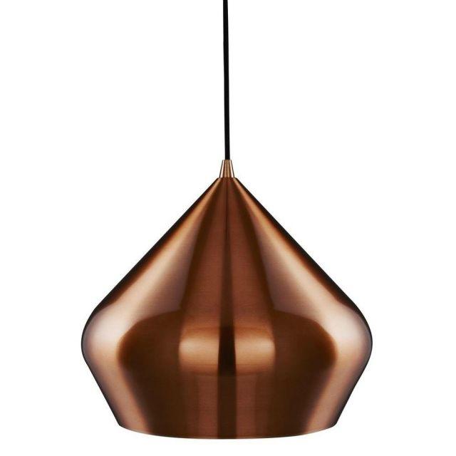 Searchlight 8683CU Vibrant Pyramid Ceiling Pendant Light Anodised Copper