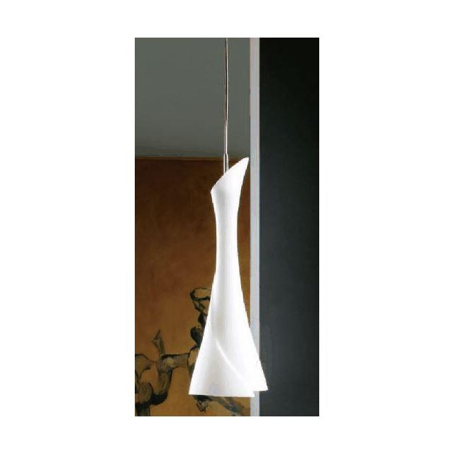 M0772 Zack 1 Lt Satin Nickel Ceiling Pendant With White Glass