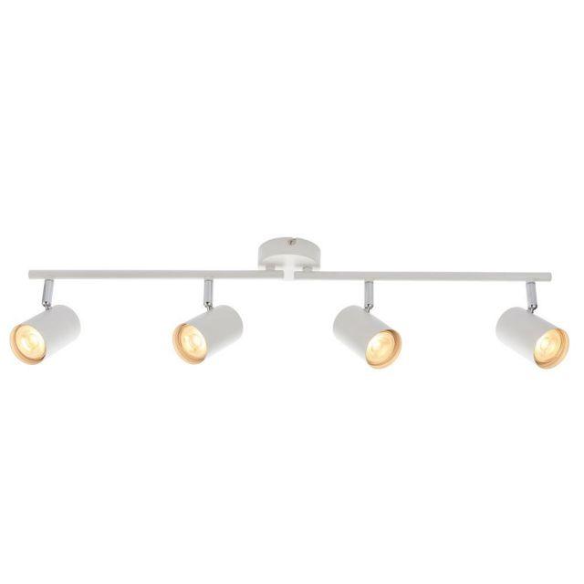 Saxby 73686 Arezzo Four Light Ceiling Bar Spotlight In White