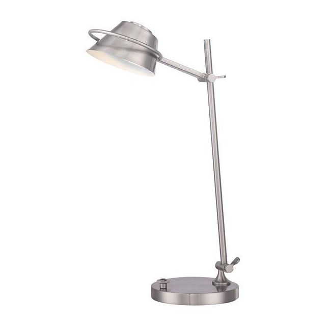 QZ/SPENCER/TL BN Spencer Brushed Nickel LED Desk Lamp