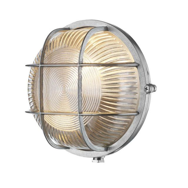 David Hunt Lighting ADM5038 Admiral Nickel Outdoor Wall/ceiling Light IP64