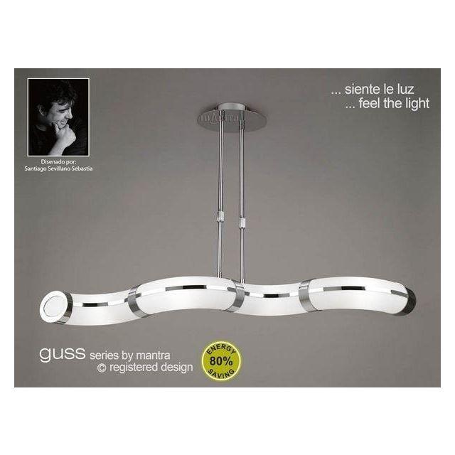 M8651 Guss Low Energy 4 Light Semi-Flush Ceiling Pendant