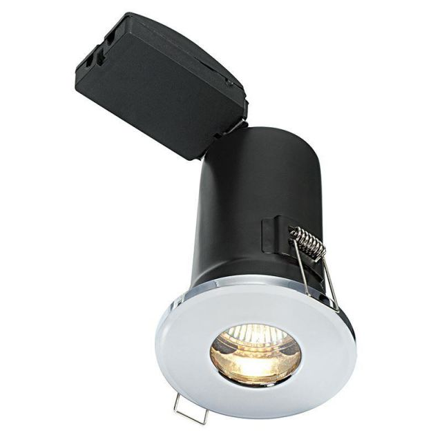 Saxby 50686 ShieldPLUS MV Chrome Bathroom Recessed Downlight IP65