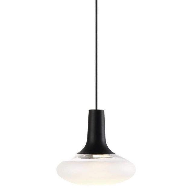 Nordlux 84423003 Dee 2.0 Oval Ceiling Pendant Light In Black With Frosted Glass - Dia: 245mm