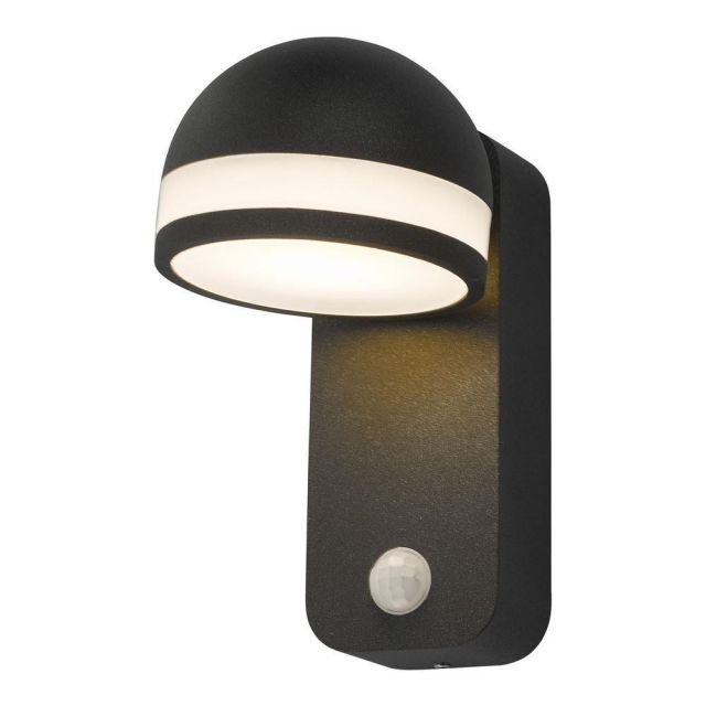 Dar TIE1539 Tien 1 Light Outdoor Wall Light In Grey And White