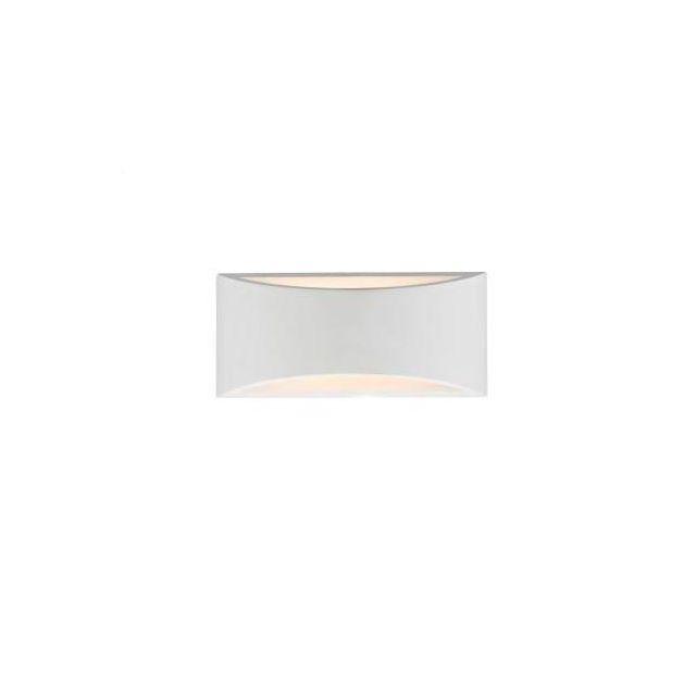 Dar HOV372 Hove White Plaster 2 Light Large Wall Light