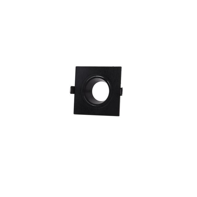 Mantra M6838 Lamborjini 1 Light Square Flush Spotlight In Black
