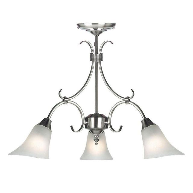 Endon 144-3AS 3 Light Chandelier In Antique Silver