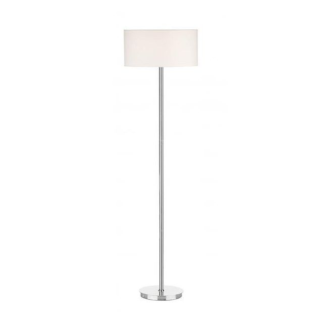 Dar TUS4950 Tuscan Floor Lamp In Chrome With Optional Ivory Shade