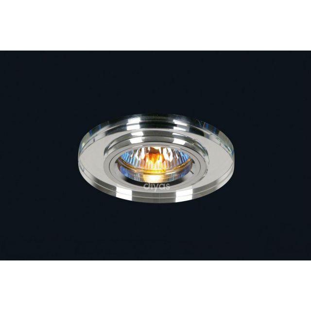 Diyas IL30806CH Clear Crystal Recessed Round Downlights Fascia