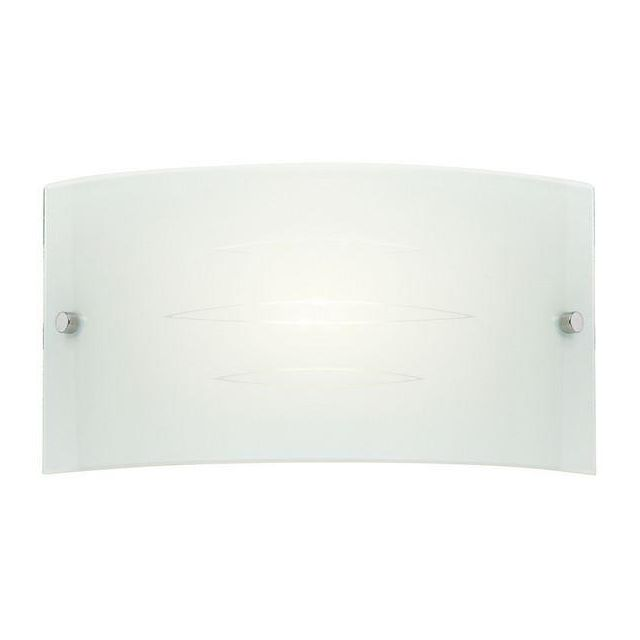 Endon HADLEY-1WBWH Coloured Glass Wall Light In White