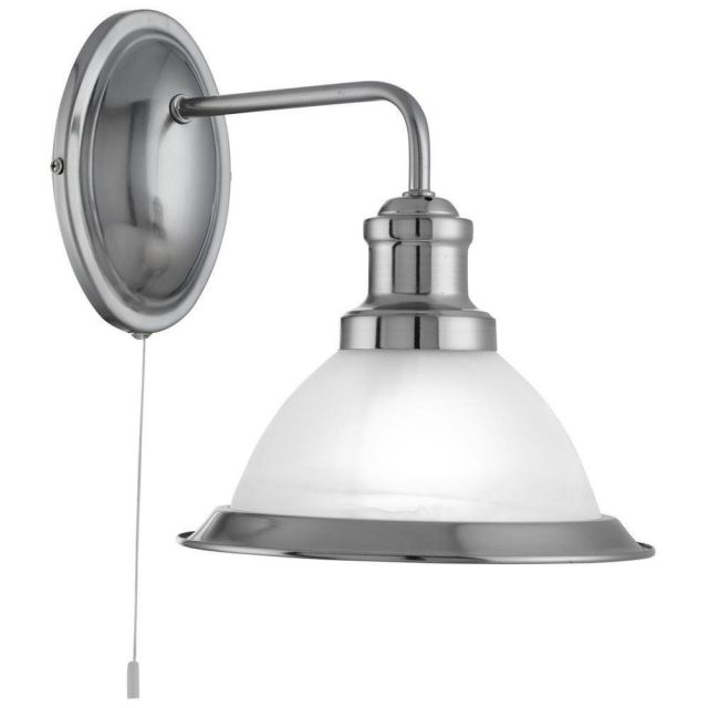 Searchlight 1481SS Bistro Single Wall Light in Satin Silver